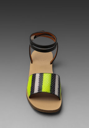 Marc by Marc Jacobs Anemone Fish Stripe Flat Sandal in Yellow and Black