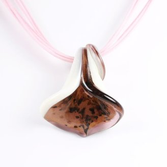 Murano Calla Lily Glass Pendant -Calla Purple/White