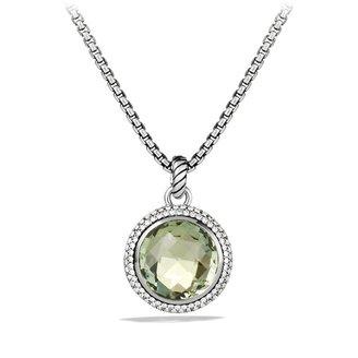 David Yurman Cerise Pendant with Prasiolite and Diamonds