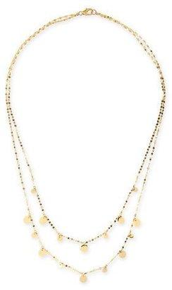 """Lana Boho Gypsy 14k Gold Disc Necklace, 16"""" $965 thestylecure.com"""