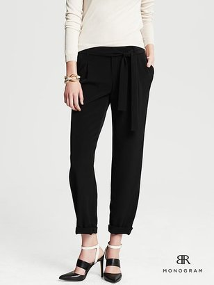 Banana Republic BR Monogram Pleated Cuffed Ankle Pant