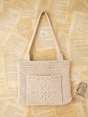 Free People Vintage Macrame Shoulder Bag