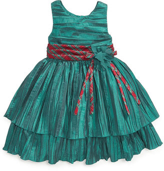 Bonnie Jean Girls Dress, Little Girls Sleeveless Crinkle Holiday Dress
