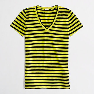 J.Crew Factory Factory layering v-neck tee in classic stripe