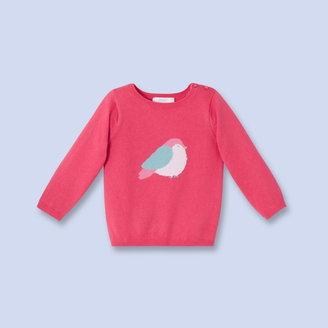 Jacadi Cotton cashmere bird sweater