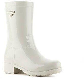 Prada Rubber Logo Rain Boot