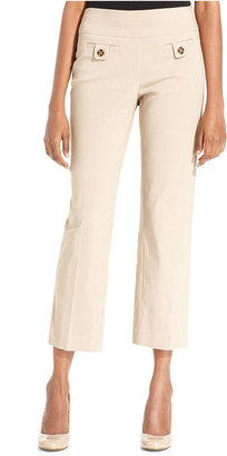 Style&Co. Pants, Slim-Fit Pull-On Capri