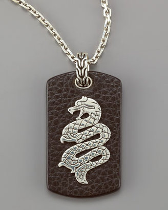 John Hardy Leather Tag Pendant