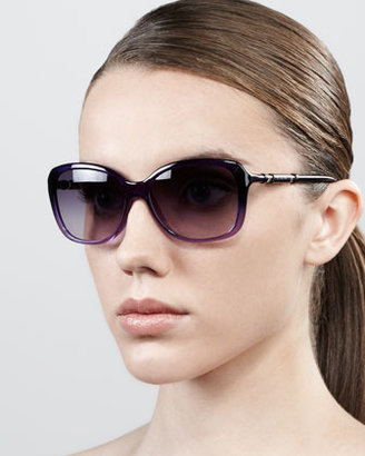 Givenchy Ombre Butterfly Sunglasses, Purple