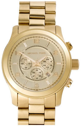MICHAEL Michael Kors Michael Kors 'Large Runway' Chronograph Bracelet Watch, 45mm $275 thestylecure.com