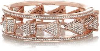 Eddie Borgo Rose gold-plated crystal triangle bracelet
