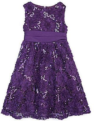 Rare Editions 2T-6X Soutache Sequined Dress