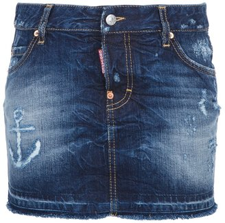 DSquared Dsquared2 distressed denim mini skirt