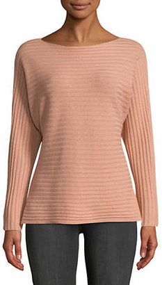 Vince Tie Back Dolman-Sleeve Wool-Blend Top