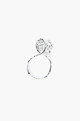 Marc by Marc Jacobs Hammered silver twist ring
