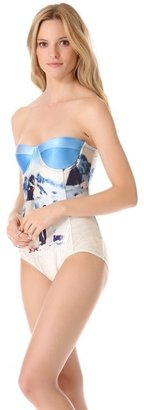We Are Handsome Panel One Piece Swimsuit
