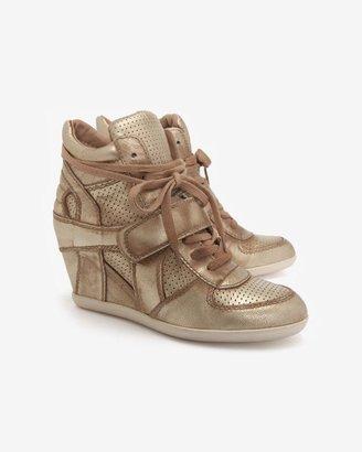 Ash Bowie Distressed Metallic Wedge Sneaker