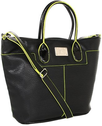 Kenneth Cole Reaction Vesey Tote (Black/Yellow) - Bags and Luggage