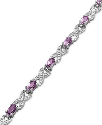 Townsend Victoria Sterling Silver Bracelet, Amethyst (3 ct. t.w.) and Diamond Accent Bracelet