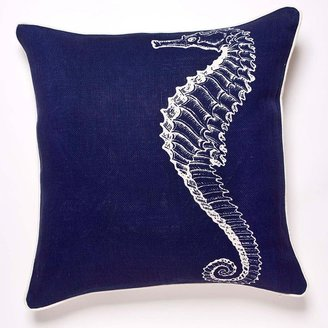 Thomas Paul Seahorse Linen Pillow