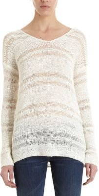 Splendid Loose Knit V-Neck Sweater