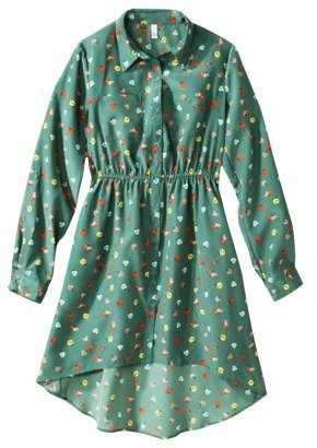 Xhilaration Juniors High Low Shirt Dress - Assorted Colors
