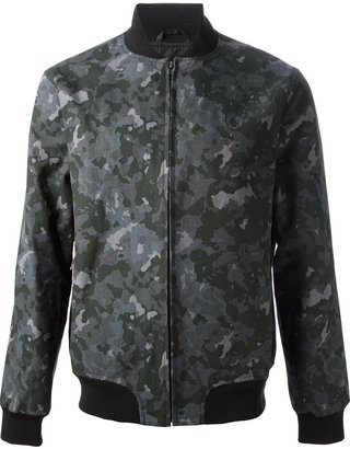 Fred Perry camouflage print bomber jacket