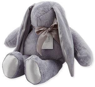 Swankie Blankie Large Stuffed Bunny, Slate