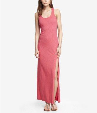 Express Slub Knit Slit Front Maxi Dress