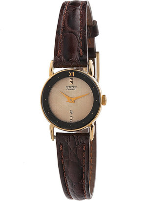 American Apparel Vintage Citizen Patterned Gold Ladies' Leather Band Watch
