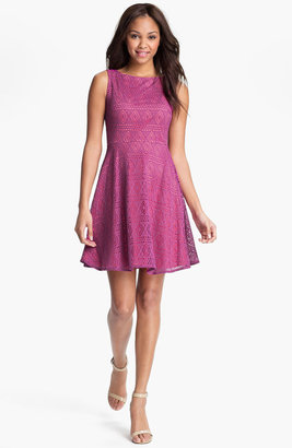 Marc New York Lace Fit & Flare Dress