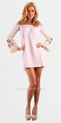 VAVA by Joy Han Jessi Embroidered Lace Bell Sleeve Casual Dresses from