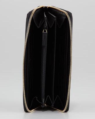 Saint Laurent Belle De Jour Zip Wallet, Black