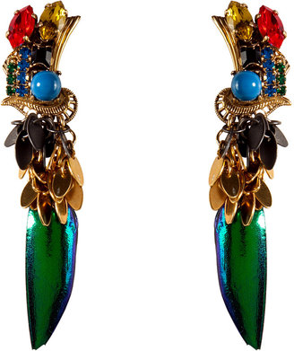 Erickson Beamon Gold-Plated Aquarela Do Brasil Earrings