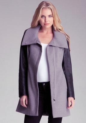 Bebe Molly Studded Wool Coat