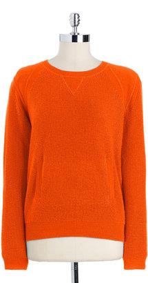 Lord & Taylor Waffle Sweatshirt Pullover