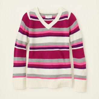 Children's Place Striped v-neck shine sweater