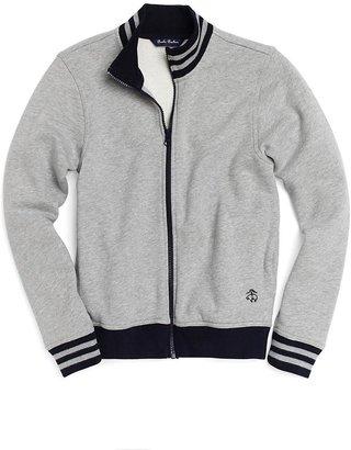 Brooks Brothers Long-Sleeve Fleece Track Jacket