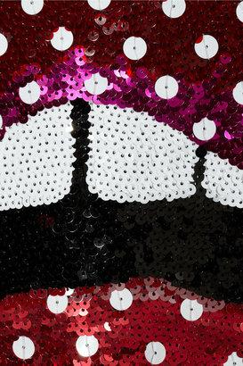 Markus Lupfer Lips polka-dot sequined merino wool sweater