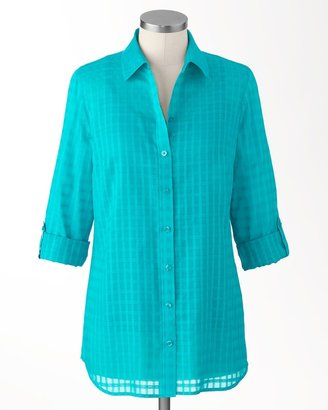 Coldwater Creek Sheer checked shirt