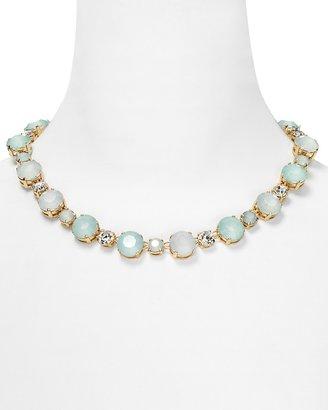 """RJ Graziano Round Stone Necklace 16.5"""""""