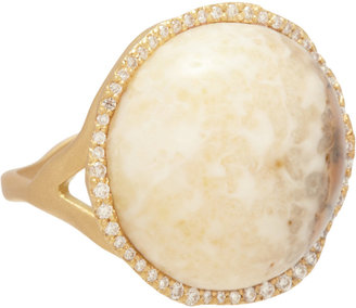 Monique Péan Fossilized Walrus Ivory & Diamond Ring
