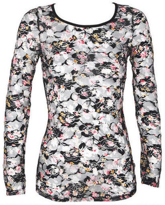 Delia's Print Lace Long-Sleeve