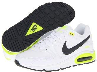 Nike Air Max Command Leather (White/Dark Grey/Volt/Dark Grey) - Footwear