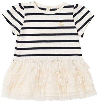 Petit Bateau Baby Girl's Comeback Dress - Navy