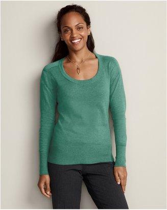 Eddie Bauer Soft Scoop-Neck Pullover Sweater