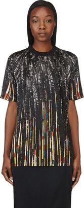 Givenchy Black Sequin Print T-Shirt