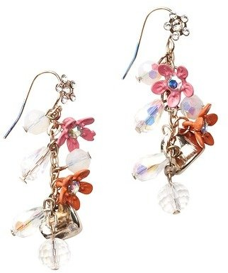 LOFT Crystal and Flower Cluster Earring