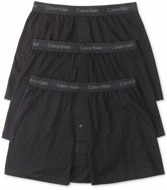 Calvin Klein Men's Classic Knit Boxers 3-Pack NU3040 $39.50 thestylecure.com