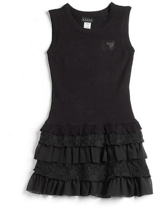 GUESS Tweens 7-16 Knit Drop-Waist Ruffle Dress
